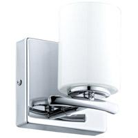 Eglo 201712A Abete 1 Light 5 inch Chrome Vanity Light Wall Light White Glass