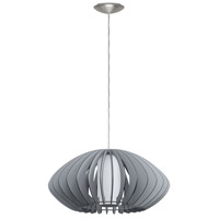 Eglo 202119A Stellato Colore 1 Light 20 inch Matte Nickel Pendant Ceiling Light