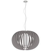 Eglo 202123A Stellato Colore 1 Light 28 inch Matte Nickel Pendant Ceiling Light