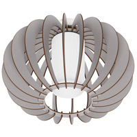 Stellato Colore 1 Light 11 inch Grey Semi Flush Mount Ceiling Light