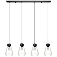 Eglo 202126A Montey 4 Light 8 inch Matte Black Pendant Ceiling Light