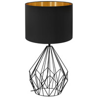 Eglo 202131A Pedregal I 25 inch 60 watt Matte Black Table Lamp Portable Light