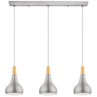 Eglo 202314A Sabinar 3 Light 35 inch Brushed Nickel Linear Pendant Ceiling Light