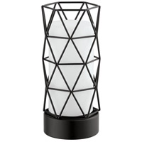 Estevau 2 9 inch 25 watt Matte Black Table Lamp Portable Light