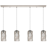 Eglo 202404A Estevau 4 Light 40 inch Satin Nickel Linear Pendant Ceiling Light