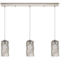 Estevau 3 Light 32 inch Satin Nickel Linear Pendant Ceiling Light