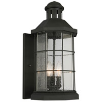 Eglo 202783A San Mateo Creek 3 Light 19 inch Matte Black Outdoor Wall Light
