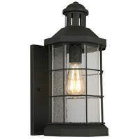 Eglo 202784A San Mateo Creek 1 Light 17 inch Matte Black Outdoor Wall Light