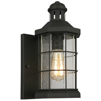 Eglo 202785A San Mateo Creek 1 Light 13 inch Matte Black Outdoor Wall Light