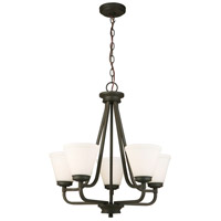 Mayview 5 Light 23 inch Matte Bronze Chandelier Ceiling Light