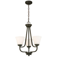 Mayview 3 Light 19 inch Matte Bronze Chandelier Ceiling Light