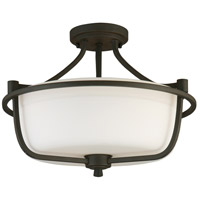 Eglo 202789A Mayview 3 Light 16 inch Matte Bronze Semi Flush Mount Ceiling Light