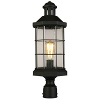 Eglo 202799A San Mateo Creek 1 Light 21 inch Matte Black Outdoor Post lantern