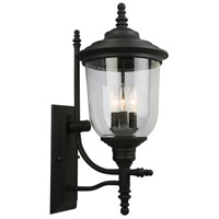 Eglo 202801A Pinedale 3 Light 22 inch Matte Black Outdoor Wall Light