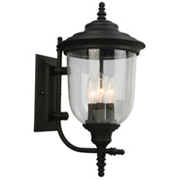 Eglo 202802A Pinedale 3 Light 18 inch Matte Black Outdoor Wall Light