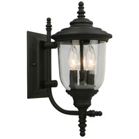 Eglo 202803A Pinedale 3 Light 15 inch Matte Black Outdoor Wall Light