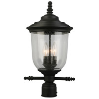 Eglo 202804A Pinedale 3 Light 21 inch Matte Black Outdoor Post lantern