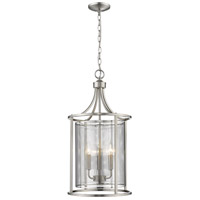 Eglo Brushed Nickel Steel Foyer Pendants