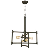 Eglo 202832A Wymer 4 Light 24 inch Matte Bronze Pendant Ceiling Light