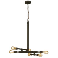 Eglo 202834A Wymer 6 Light 23 inch Matte bronze Pendant Ceiling Light
