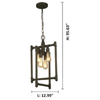 Eglo 202836A Wymer 4 Light 13 inch Matte Bronze Foyer Pendant Ceiling Light alternative photo thumbnail