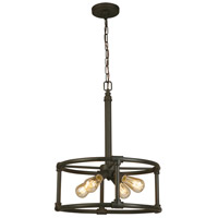 Eglo 202845A Wymer 4 Light 19 inch Matte Bronze Pendant Ceiling Light