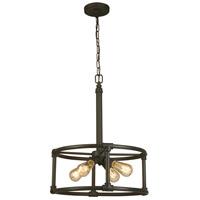 Eglo 202845A Wymer 4 Light 19 inch Matte Bronze Pendant Ceiling Light