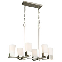 Eglo 202857A Ciara Springs 6 Light 18 inch Brushed Nickel Pendant Ceiling Light