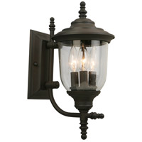 Eglo 202877A Pinedale 3 Light 15 inch Matte Bronze Outdoor Wall Light