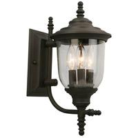 Eglo 202877A Pinedale 3 Light 15 inch Matte Bronze Outdoor Wall Light
