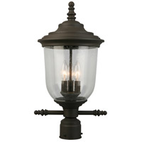 Eglo 202878A Pinedale 3 Light 21 inch Matte Bronze Outdoor Post lantern