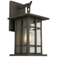 Eglo 202888A Arlington Creek 1 Light 16 inch Matte Bronze Outdoor Wall Light