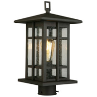 Eglo 202889A Arlington Creek 1 Light 15 inch Matte Bronze Outdoor Post lantern