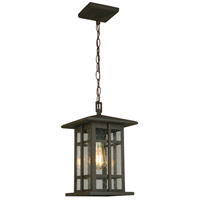 Eglo 202891A Arlington Creek 1 Light 9 inch Matte Bronze Outdoor Pendant