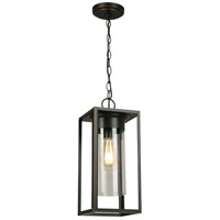 Eglo 202898A Walker Hill 1 Light 7 inch Oil Rubbed Bronze Outdoor Pendant