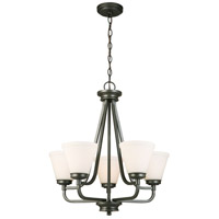 Mayview 5 Light 23 inch Graphite Chandelier Ceiling Light