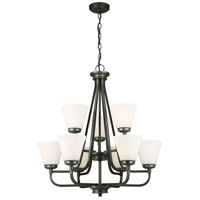 Eglo 202902A Mayview 9 Light 27 inch Graphite Chandelier Ceiling Light