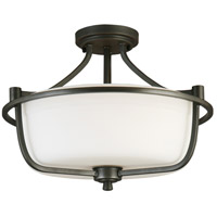 Eglo 202904A Mayview 3 Light 16 inch Graphite Semi Flush Mount Ceiling Light