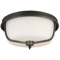 Eglo 202907A Mayview 3 Light 16 inch Graphite Flush Mount Ceiling Light