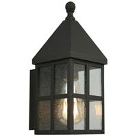 Eglo 203019A Creston Creek 1 Light 12 inch Matte Black Outdoor Wall Light