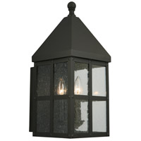 Creston Creek 3 Light 19 inch Matte Black Outdoor Wall Light