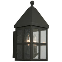 Eglo 203022A Creston Creek 1 Light 14 inch Matte Black Outdoor Wall Light