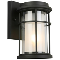 Helendale 1 Light 10 inch Matte Black Outdoor Wall Light