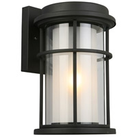 Eglo 203026A Helendale 1 Light 13 inch Matte Black Outdoor Wall Light