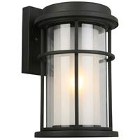 Eglo 203026A Helendale 1 Light 13 inch Matte Black Outdoor Wall Light