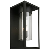 Eglo 203035A Walker Hill 3 Light 18 inch Matte Black Outdoor Wall Light