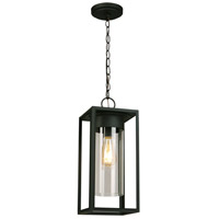 Eglo 203036A Walker Hill 1 Light 7 inch Matte Black Outdoor Pendant