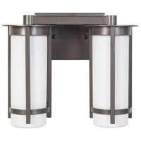 Eglo 203119A Truxton 2 Light 13 inch Graphite Bath Vanity Wall Light