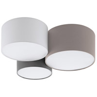 Eglo 203213A Pastore 1 3 Light 22 inch Taupe and White and Grey Flush Mount Ceiling Light