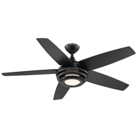 Eglo 203235A Petani 52 inch Matte Black with Matte Black Plywood Blades Ceiling Fan
